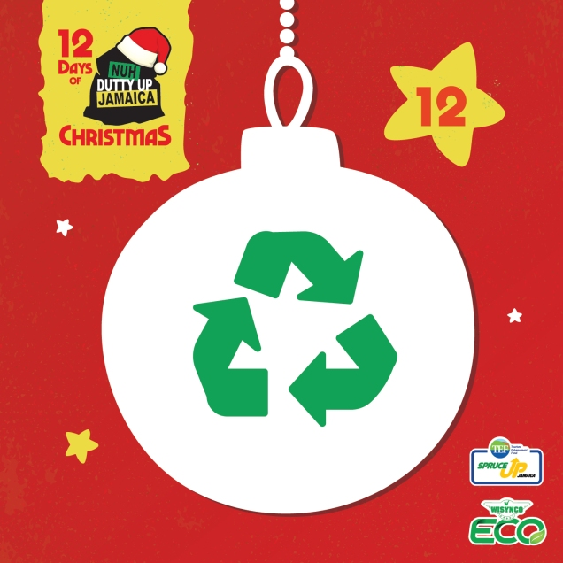 12 Recycle & Reuse! Households create a lot of additional waste during the holiday season. Reuse packaging and recycle plastic containers!